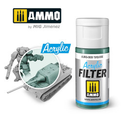 Ammo by MIG Acrylic Filter Turquoise High quality Acrylic Filter 15ml A.MIG-809