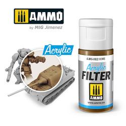 Ammo by MIG Acrylic Filter Ochre High quality Acrylic Filter 15ml A.MIG-822