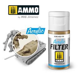 Ammo by MIG Acrylic Filter Tan High quality Acrylic Filter 15ml A.MIG-824