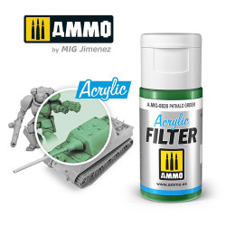 Ammo by MIG Acrylic Filter Phthalo Green High quality Acrylic Filter 15ml A.MIG-826