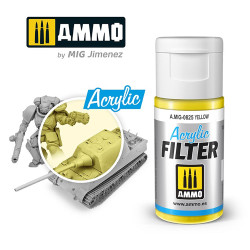 Ammo by MIG Acrylic Filter Yellow High quality Acrylic Filter 15ml A.MIG-825
