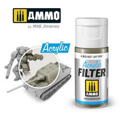 Ammo by MIG Acrylic Filter Light Gray High quality Acrylic Filter 15ml A.MIG-827