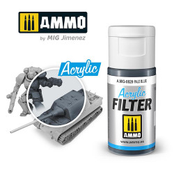 Ammo by MIG Acrylic Filter Pale Blue High quality Acrylic Filter 15ml A.MIG-829