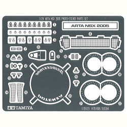 TAMIYA 12612 ARTA NSX Photo Etched Parts Set 1:24 Car Model Kit