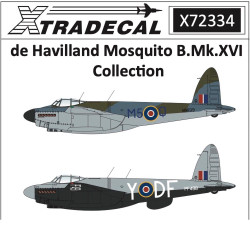 Xtradecal X72334 1:72 Decal Sets for de Havilland Mosquito A04023 - 7 Sets