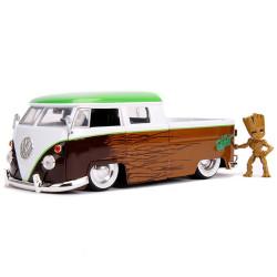 Jada Marvel Groot VW Micro Truck & Figure 1:24 Diecast Model Car