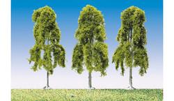 FALLER Weeping Birches 90mm (3) HO Gauge Scenics 181376