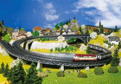 Faller Curved Radius 1 Track Beds (4) Building Kit I N Gauge 222542