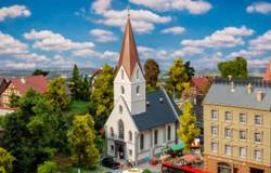 Faller Town Church Kit III FA232319 N Scale