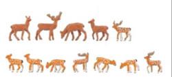 Faller Red (5) & Fallow (7) Deer Figure Set FA155905 HO Gauge