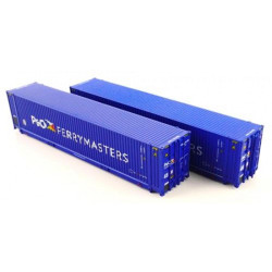 Dapol 45ft Hi-Cube Containers P&O Ferry 0084602/0080377 N Gauge DA2F-028-104