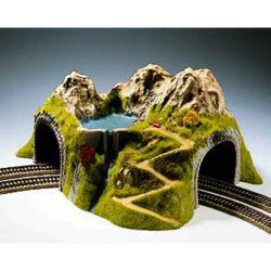 NOCH Double Track Curved Tunnel 43x41x23cm HO Gauge Scenics 05180