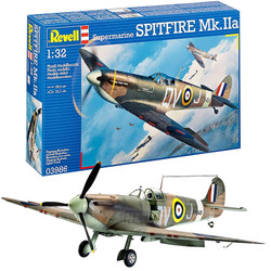 REVELL Supermarine Spitfire Mk IIa 1:32 Aircraft Plastic Model Kit 03986