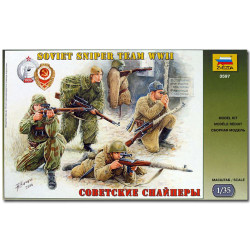 ZVEZDA 3597 Soviet Sniper Team Model Kit Figures 1:35