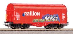 Piko Expert NS Railion Graffitied Tarpaulin Wagon V PK58981 HO Gauge