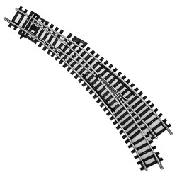HORNBY Track Single 1x R8075 Right Hand Curved Point
