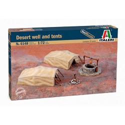 ITALERI Desert Well and Tents 6148 1:72 Accessories Model Kit