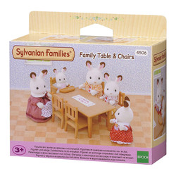 Family Dining Table Chairs - SYLVANIAN Families Figures 4506