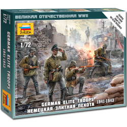 ZVEZDA 6180 German Elite Troops Snap Fit Model Kit