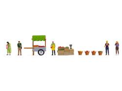 Noch At the Fruit Market Themed Figure Set N16226 HO Gauge
