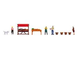 Noch At the Vegetable Market Themed Figure Set N16225 HO Gauge