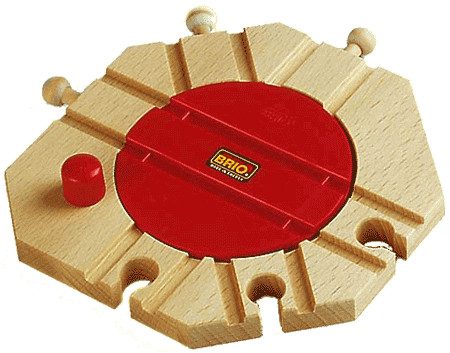 BRIO 33361 Turntable Track for Wooden Train Set