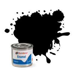 HUMBROL 33 Black Matt Enamel 14ml Model Kit Paint
