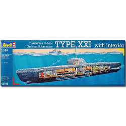 REVELL U-Boat XXI Type w. Interieur 1:144 Model Kit - 05078