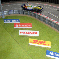 SLOT TRACK SCENICS AB3A Advertising Boards - for Scalextric