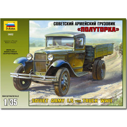 ZVEZDA 3602 Soviet Army 1.5ton Truck WWII 1:35 Model Kit
