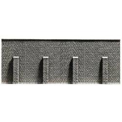 NOCH Extra Long Retaining Wall Profi Hard Foam 67x12.5cm HO Gauge Scenics 58057