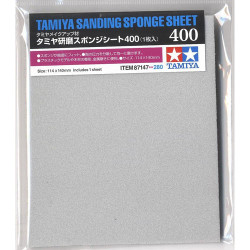 TAMIYA 87147 Sanding Sponge Sheet 400 - Tools / Accessories