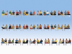 Noch Seated Passengers (60) Mega Economy Figure Set HO Gauge 16072