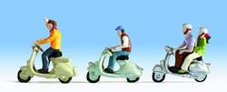 Noch Scooter Riders (3) Figure Set N Gauge 36910