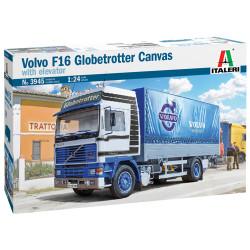 Italeri 3945 Volvo F-16 Globetrotter Canvas Truck 1:24 Plastic Model Kit