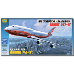ZVEZDA 7010 Boeing 747-8 Aircraft Model Kit 1:144
