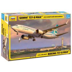 ZVEZDA 7026 Boeing 737-8 MAX Civil Airliner Plane Model Kit