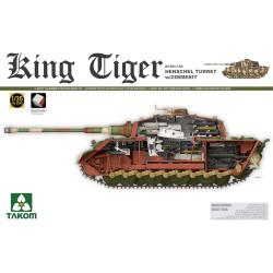 Takom TAK02045 King Tiger w/Henschel Turret, Zimmerit Panzer Tank Model Kit