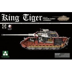 Takom TAK02046 King Tiger w/Porsche Turret, Zimmerit Panzer Tank Model Kit