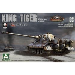 Takom TAK02047 King Tiger w/Henschel Turret, Zimmerit Pz.Abt.505 Tank Model Kit