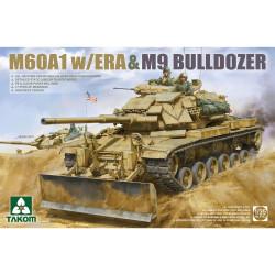 Takom TAK02142 M60A1 w/ERA & M9 Bulldozer 1:35 Model Kit