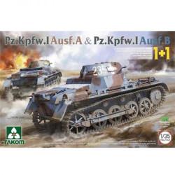 Takom TAK02145 Pz.Kpfw.I Ausf.A & Pz.Kpfw.I Ausf.B 1+1 Panzer Tank Model Kit