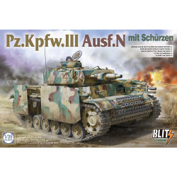 Takom TAK08005 Pz.Kpfw.III Ausf.N mit Schurzen 1:35 Panzer Tank Model Kit
