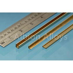 Albion Alloys CC1 Brass C Channel 1 x 1.5 x 1mm