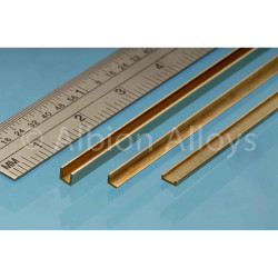 Albion Alloys CC3 Brass C Channel 1 x 3.0 x 1mm