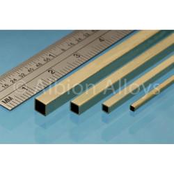 Albion Alloys SB1M Square Brass Tube 3.96 x 3.96 mm