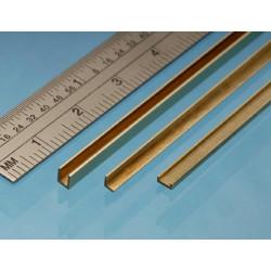 Albion Alloys UC3 Brass U Channel 2.5 x 2.5 x 2.5mm