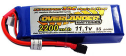 Overlander 3x LiPo Battery 2200mAh 3S 11.1v 30C Deans RC Flight Pack