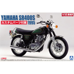 Aoshima 05166 Yamaha SR400S '95 w/Custom Parts 1:12 Plastic Model Motorcycle Kit