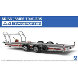 Aoshima 05260 Brian James Trailers A4 Transporter 1:24 Plastic Model Trailer Kit